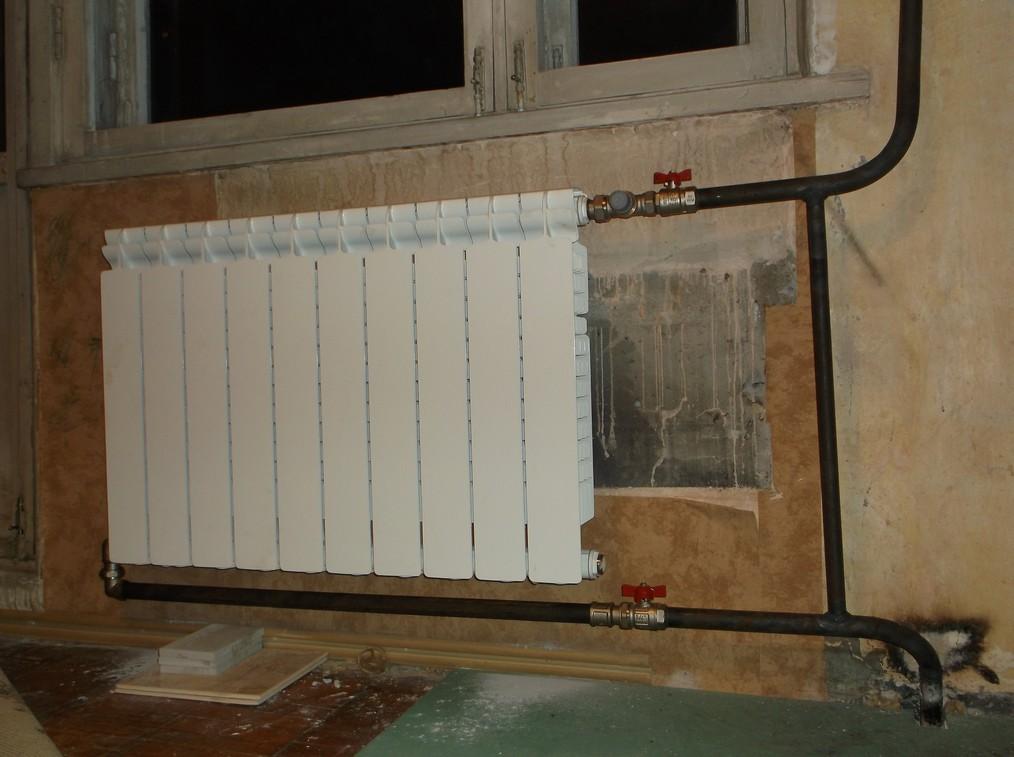 Замена батарей на сварку - диагональная схема подключения радиатора