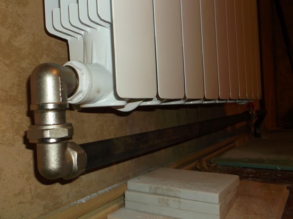 Диагональная схема подключения радиатора отопления