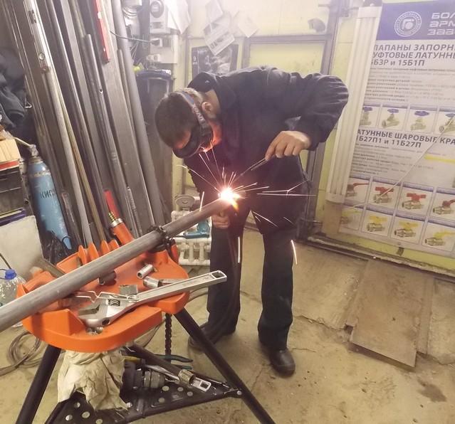 Сварочные работы по замене радиаторов отопления