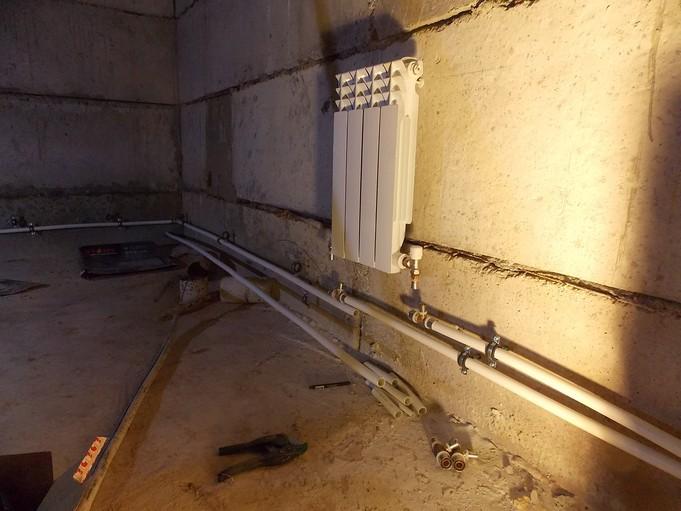 Нижняя схема подключения радиатора