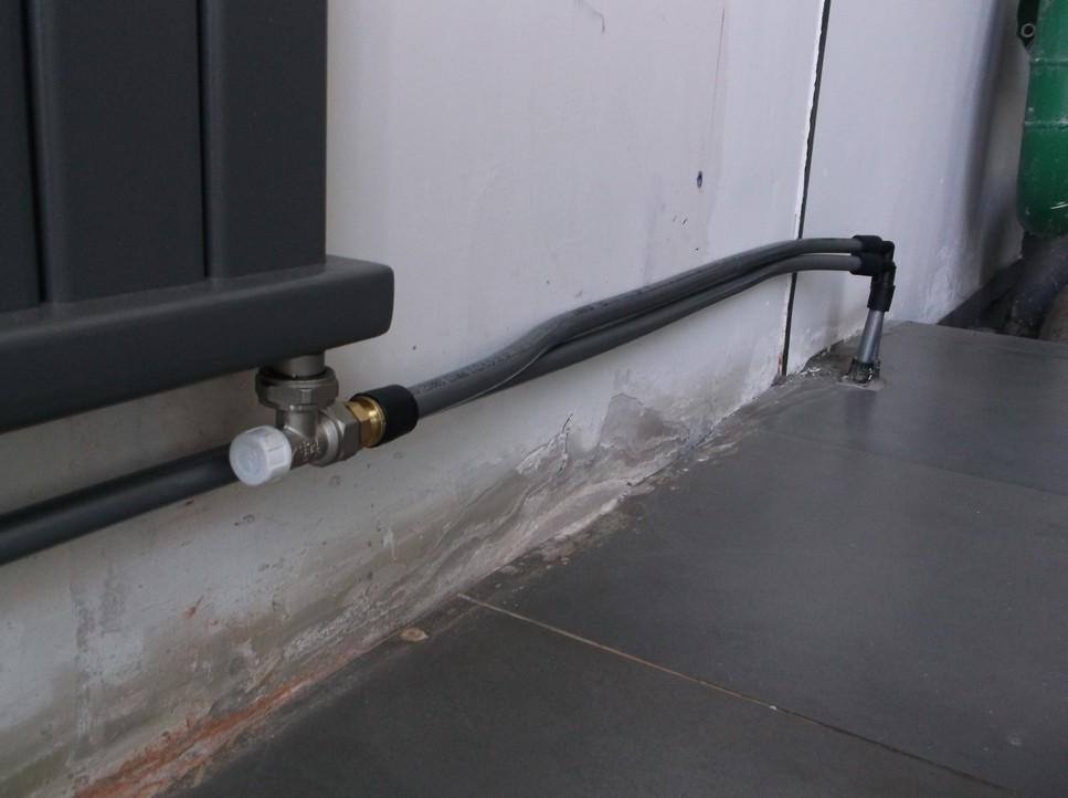 Подводка труб сшитым полиэтиленом Rehau